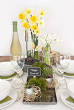 Table decoration at easter Royalty Free Stock Images