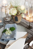 Table decoration for a festive dinner Royalty Free Stock Photos