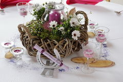 Table decoration for festivities. A Table decoration for festivities Royalty Free Stock Photo