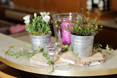 Table decoration for festivities. A Table decoration for festivities Royalty Free Stock Photos