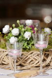 Table decoration for festivities. A Table decoration for festivities Stock Images