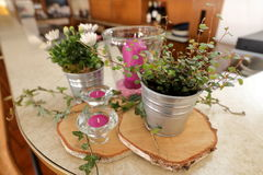 Table decoration for festivities. A Table decoration for festivities Royalty Free Stock Image