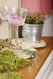 Table decoration for festivities. A Table decoration for festivities Stock Photos