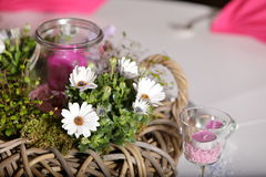 Table decoration for festivities. A Table decoration for festivities Stock Image