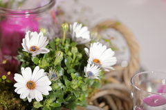 Table decoration for festivities. A Table decoration for festivities stock photography