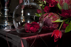 Table decoration. Lovely tabledecoration for a wedding or celebration Stock Image