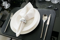 Table decoration for meal time Royalty Free Stock Photos