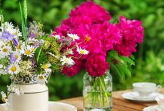 Table decoration for Mother's Day Royalty Free Stock Photos