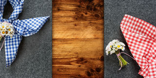 Table decoration for Oktoberfest. Decoration on a rustic wooden table for an Oktoberfest concept stock photography