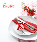 Table decoration in red Royalty Free Stock Images