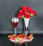 Table Decoration for Valentine`s Day royalty free stock photos