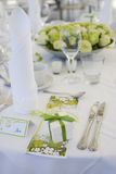 Table decoration for wedding Stock Image