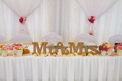Table with decoration for wedding Stock Photography