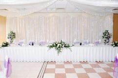 Table decoration at wedding Stock Photo