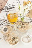 Table decoration with wine Royalty Free Stock Photos
