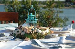 Table decorations Royalty Free Stock Photos
