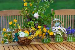 Table decorations for Easter Stock Photos