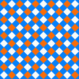 Table diagonal cloth seamless pattern orange and blue Royalty Free Stock Image