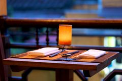 Table dinante Photographie stock