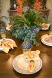 Table dinante de fête Photographie stock libre de droits
