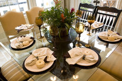 Table dinante luxueuse Image libre de droits