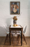 Table in a dining room Royalty Free Stock Photos