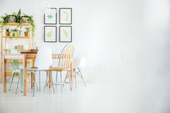 Table in dining room Stock Image