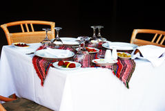 Table for dinner Royalty Free Stock Photos