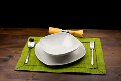 Table with dishes Royalty Free Stock Image