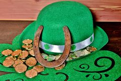 Table Display for St.Patrick`s Day. Stock Images