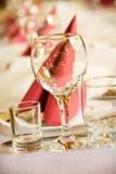 Table disposée de célébration image libre de droits