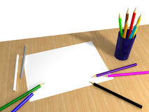 Table for drawing Royalty Free Stock Photos