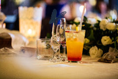 Table drinks Stock Photo