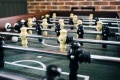 Table du football avec la partie de football de Tableau Image libre de droits
