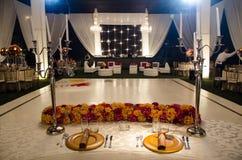 Table du ` s de jeune mariée photo stock