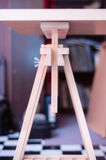 Table Easel. A wooden DIY Table Easel stock photo