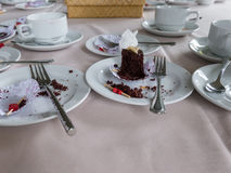 Table after eating Royalty Free Stock Photo