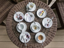Table after eating Stock Images