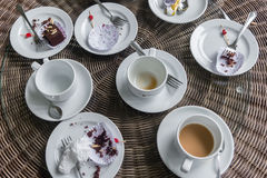 Table after eating Royalty Free Stock Images