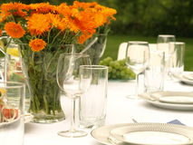 Table for elegant party Royalty Free Stock Photography
