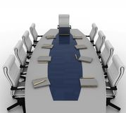 Table and empty chairs Stock Image