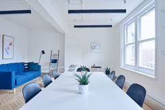 Table in empty meeting room