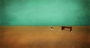 Table in an empty room. Royalty Free Stock Photography