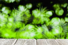 Table with empty space on abstract nature background royalty free stock image