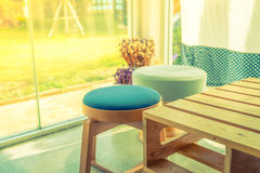 Table and empty space for your decoration  ( Filtered image proc Stock Images