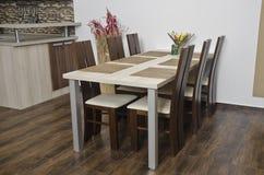 Table en bois Photographie stock
