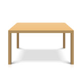 Table en bois Photographie stock libre de droits