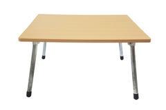 Table en bois avec les jambes réglables en métal d'isolement Photo stock