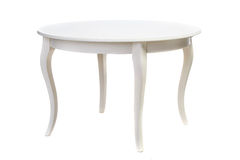 Table en bois blanche Photo libre de droits