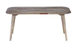 Table en bois d'isolement photographie stock libre de droits